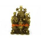 Feng Shui Brass Fuk Luk Sau with Wealth Pot