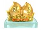 Feng Shui Pair of Golden Peaches