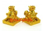 Feng Shui Pair of Golden Pi Xiu