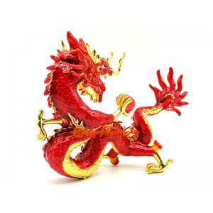 Fire Dragon Holding Fireball To Suppress Quarrelsome & Conflict Energies
