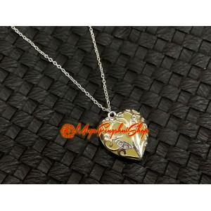 Glow In The Dark Heart Pendant Necklace