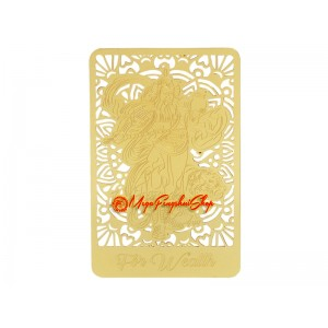God Of Wealth With Tiger Gold Talisman Feng Shui Card