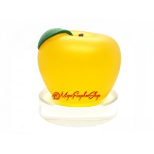 Gold Apple with Peace Symbol