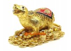 Gold Mongoose Spouting Jewels for Wealth Luck