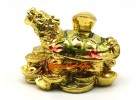Golden Dragon Tortoise with Child on Treasure