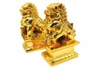Golden Feng Shui Foo Dogs