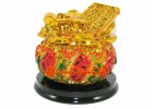 Golden Feng Shui Wealth Pot with Abacus