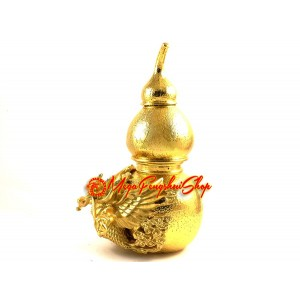 Golden Wu Lou with Garuda for Health Luck