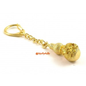 Golden Wu Lou with Garuda Keychain