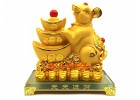 Good Fortune Golden Rat with Gold Ingots (L)