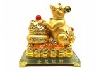 Good Fortune Golden Rat with Wealth Pot (L)