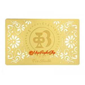Good Health Amulet Gold Talisman Card