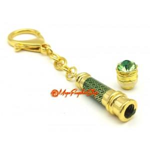 Green Tara Mantra Wand Amulet Keychain