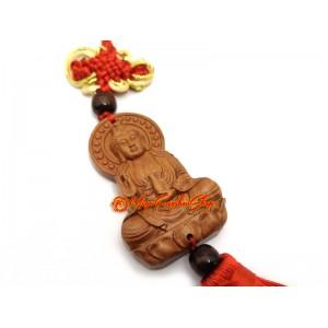 Guan Yin Om Mani Padme Hum Amulet Tassel