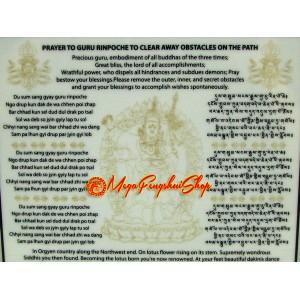 Guru Rinpoche Plaque with Mantra