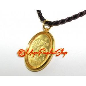 High Quality Golden Double Carp and Ruyi Pendant