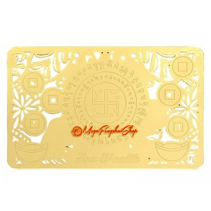 Increase Your Wealth Luck Gold Talisman Card