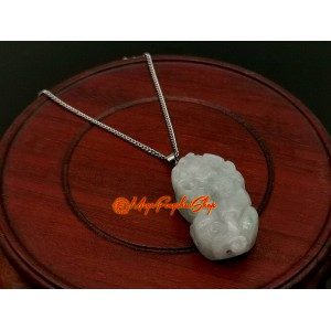 Jade Piyao Pendant with Stainless Steel Chain (High Grade)