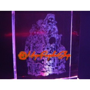 Laser Engraved Fuk Luk Sau Glass with LED Light Base