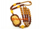 Laughing Budda Amulet with Beaded Tassel