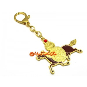 Life Force Amulet with Red Windhorse and Wishgranting Mantra