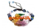 Colorful Liu li Crystal Dragon and Phoenix Bracelet