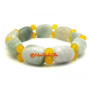 Longevity Tortoise Shell Bracelet (Natural Jade)