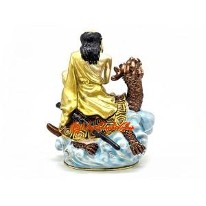Lou Han Sitting On Dragon Headed Tortoise