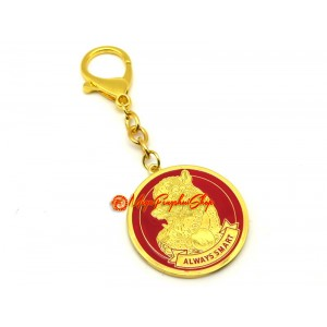 Lucky Fu Dog 'Always Smart' Amulet Feng Shui Keychain