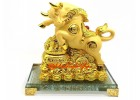 Lucky Golden Ox with Wealth Pot for Good Fortune