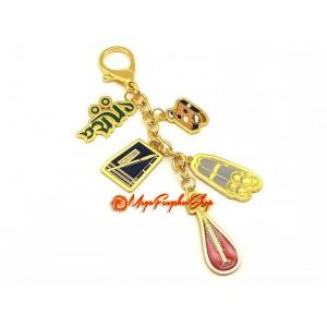 Manjushri Dhih Scholastic Amulet Feng Shui Keychain