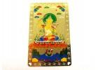 Manjushri with Flaming Sword Card (Metal)