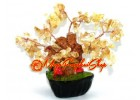 Mini Bonsai Citrine Crystal Wealth Inviting Tree