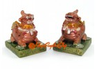 Colorful Pair of Feng Shui Piyao
