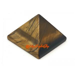 Mini Tiger Eye Crystal Pyramid