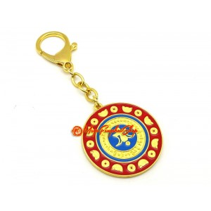 Mongoose Wealth Amulet Feng Shui Keychain