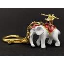 Monkey God On Elephant Keychain