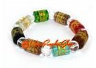 Om Mani Padme Hum Cylindrical Crystal Bracelet (mixed)