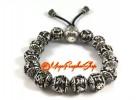 Om Mani Padme Hum Lotus Beads Bracelet (Tibetan Silver)