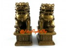 Pair of Brass Feng Shui Foo Dogs