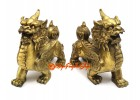 Pair of Brass Feng Shui Wealth Magnifying Pi Yao