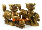 Pair of Feng Shui Brass Chi Lin