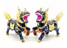 Pair of Feng Shui Dragon Horse Chi Lin