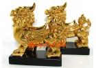 Pair of Golden Feng Shui Piyao with Wings