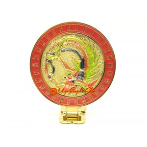 Phoenix Feng Shui Mirror with Wish-Granting Mantra