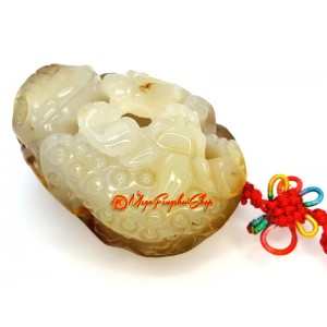 Pi Yao Fengshui Crystal Amulet (Chalcedony)