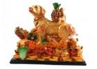 Prosperity Dog with Zodiac Animal Friends
