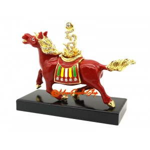 Red Feng Shui Windhorse for Success Luck