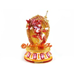 Red Lion Faced Dakini Statue