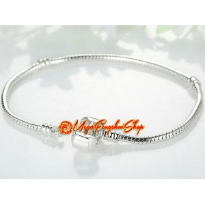 Snake Chain Bracelet for Pandora Bead Charm (Silver Plated)